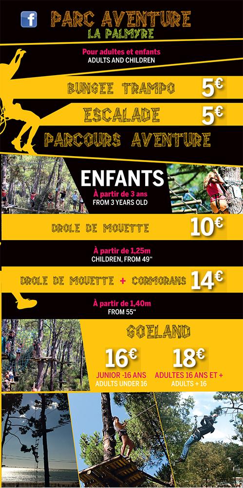Tarifs Parc Aventure La Palmyre